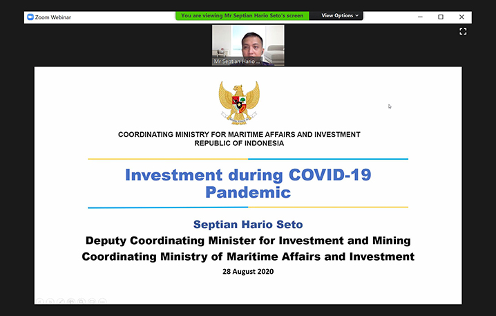 "Webinar on ""COVID-19 and Investment in Indonesia"""